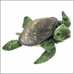 Folkmanis hand puppet sea turtle