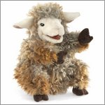 Folkmanis hand puppet woolly lamb