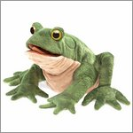 Folkmanis hand puppet toad